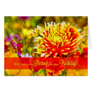 For Life Partner Birthday - Wildflower Garden Card