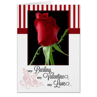 for Life Partner on Valentine's Day Red Rose Card