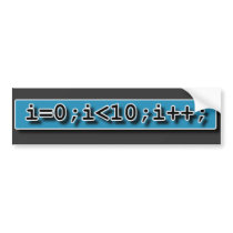 For Loop Bumper Sticker