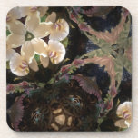 For love of orchids beverage coasters