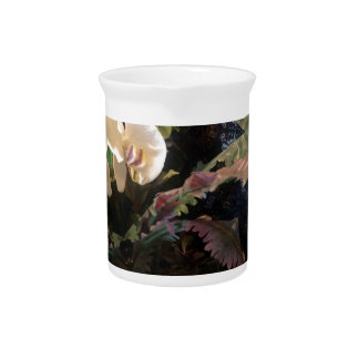 For love of orchids beverage pitcher