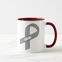 For Me (Gray / Silver Awareness Ribbon) Mug