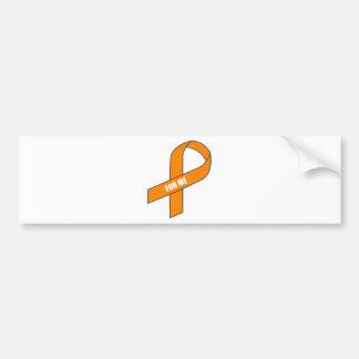 For Me (Orange Ribbon) Bumper Stickers