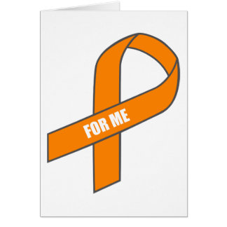 For Me (Orange Ribbon) Stationery Note Card