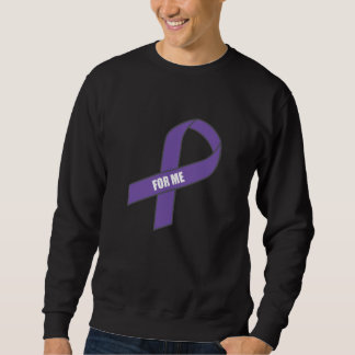 For Me (Purple Ribbon) Sweatshirt
