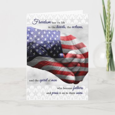 for Military Husband Father's Day Deployed Card
