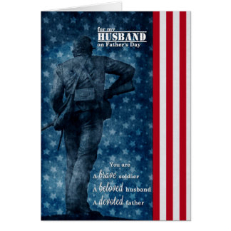 for Military Husband   Father's Day   Patriotic Card