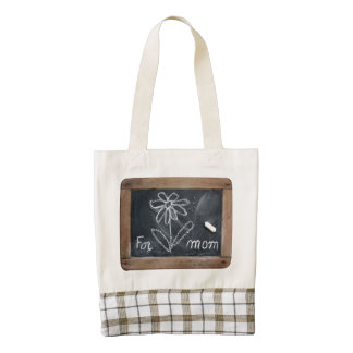For Mom - Flower Doodles - Mother's day Bag - Zazzle HEART Tote Bag