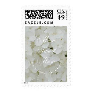 For Mom Sweet Mom Hydrangea Floral White Flowers Postage