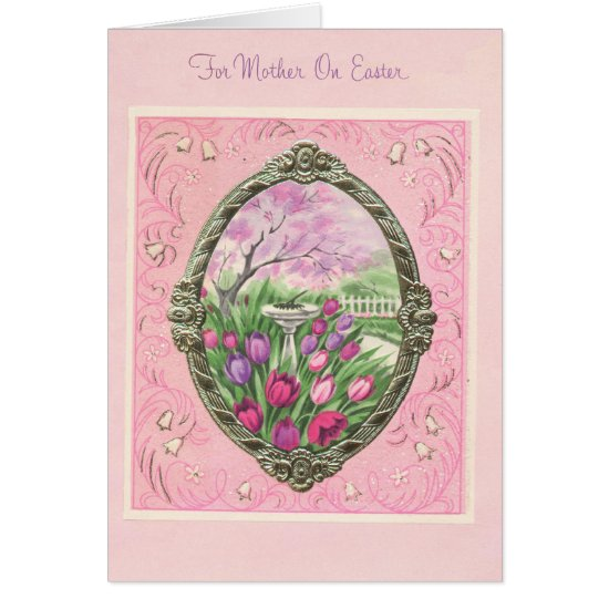 For Mother on Easter Pink Card