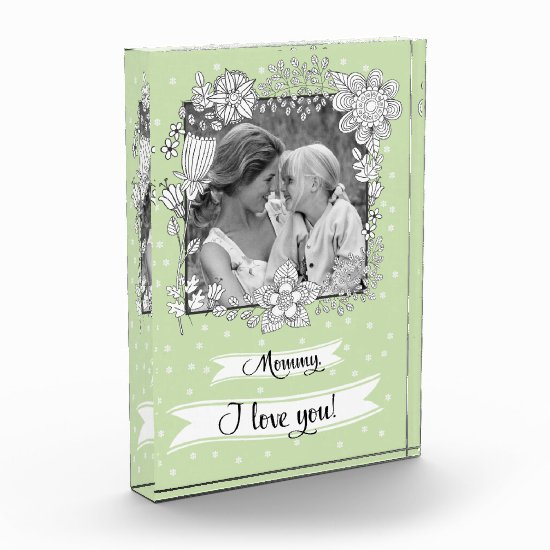 For Mother on Mother's Day. Custom Photo Block
