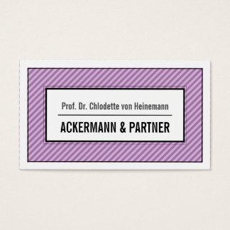 For Mrs. Anwalt Business Card