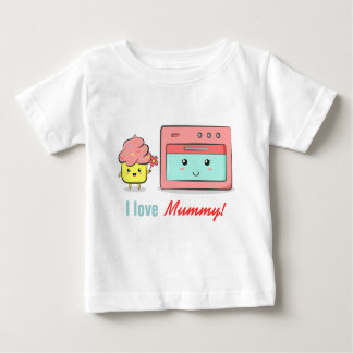 For Mum - Cute cupcake presenting flower to oven Baby T-Shirt