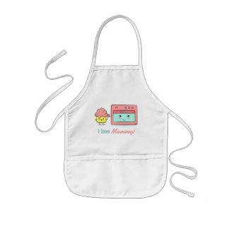 For Mum - Cute cupcake presenting flower to oven Kids' Apron