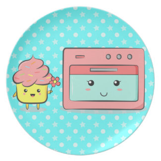 For Mum - Cute cupcake presenting flower to oven Plates