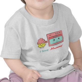 For Mum - Cute cupcake presenting flower to oven T-shirt