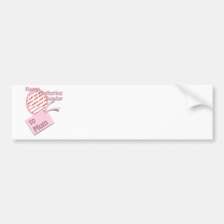 For Mum - Happy Mothering Sunday Car Bumper Sticker