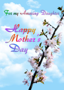 Happy Mothers Day To My Daughter Gifts On Zazzle