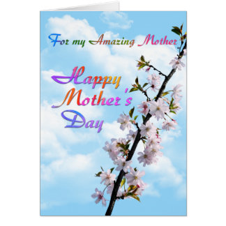 For my Amazing Mother Happy Mother's Day Card