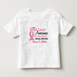 For My Aunt Breast Cancer Awareness Toddler T-shirt