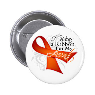 For My Aunt - Leukemia Ribbon Pinback Buttons