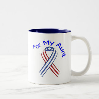 For My Aunt Military Patriotic Two-Tone Coffee Mug