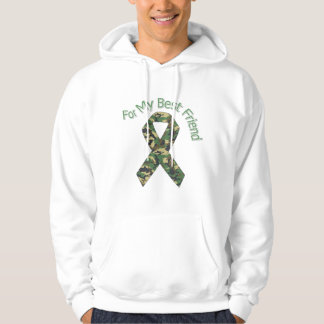 For My Best Friend Military  Ribbon Hoodie