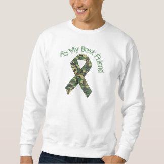 For My Best Friend Military  Ribbon Sweatshirt