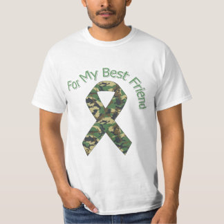 For My Best Friend Military  Ribbon T-Shirt