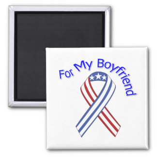 For My Boyfriend Military Patriotic Magnet