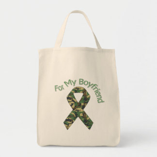 For My Boyfriend Military Ribbon Canvas Bags