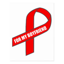 For My Boyfriend (Red Ribbon) Postcard
