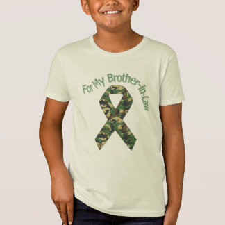 For My Brother-in-Law Military  Ribbon T-Shirt