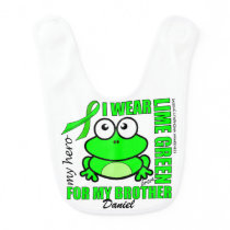 'FOR MY BROTHER' | LYMPHOMA SUPPORT | FROG BABY BIB