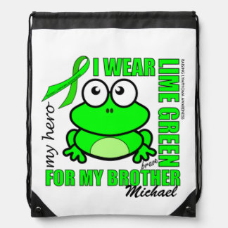 'FOR MY BROTHER' | LYMPHOMA SUPPORT | FROG DRAWSTRING BAG