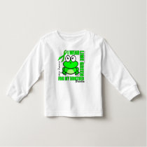 'FOR MY BROTHER' | LYMPHOMA SUPPORT | FROG TODDLER T-SHIRT
