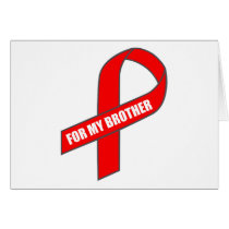 For My Brother (Red Ribbon) Card