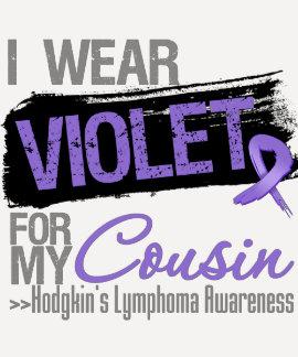 For My Cousin - Hodgkins Lymphoma Ribbon T Shirt