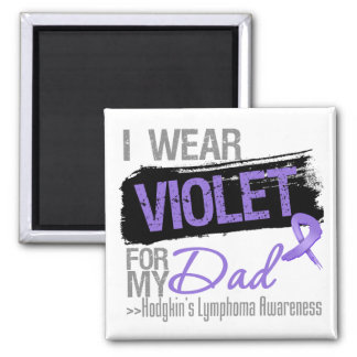 For My Dad - Hodgkins Lymphoma Ribbon 2 Inch Square Magnet