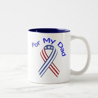 For My Dad Military Patriotic Two-Tone Coffee Mug