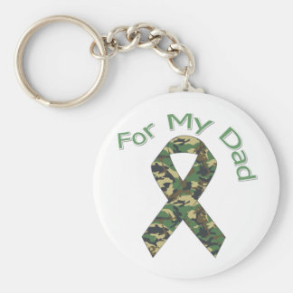 For My Dad Military  Ribbon Keychain