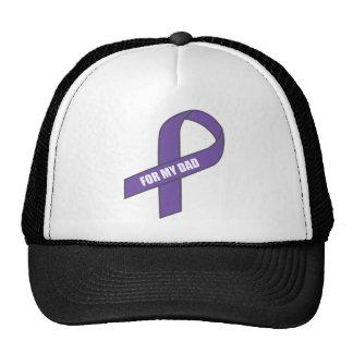 For My Dad (Purple Ribbon) Mesh Hats