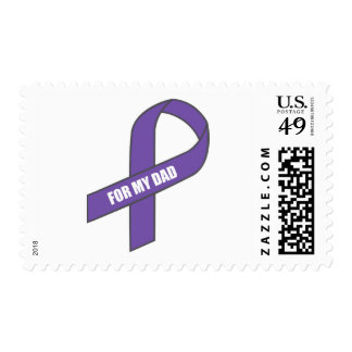 For My Dad (Purple Ribbon) Stamp