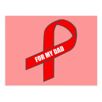 For My Dad (Red Ribbon) Postcard
