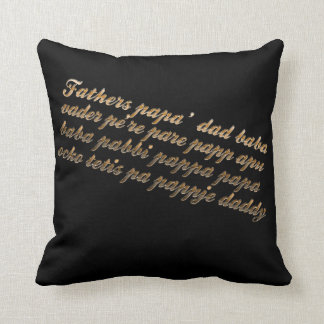 For my dad! throw pillow