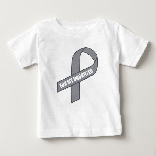 For My Daughter (Gray / Silver Awareness Ribbon) T-shirt