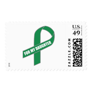 For My Daughter (Green Ribbon) Stamp
