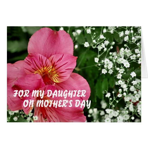 For my daughter on Mother's Day MOT... Greeting Card