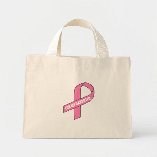 For My Daughter (Pink Ribbon) Tote Bag