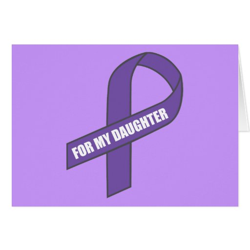 For My Daughter (Purple Ribbon) Card